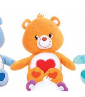 Peluche BISOUNOURS orange Coeur - Grosabisous - H 26 cm - CARE BEARS