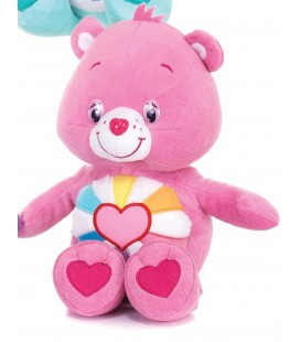 Peluche BISOUNOURS - Coeur Plein d'espoir 26 cm extra doux - H 26 cm - CARE BEARS
