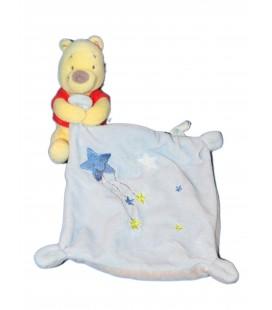 Doudou WINNIE The Pooh Mouchoir bleu étoiles - Disney Baby