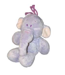Doudou peluche Floppy LUMPY L'Efelant Elephant mauve Disney Nicotoy Simba Avda H 22/28 cm