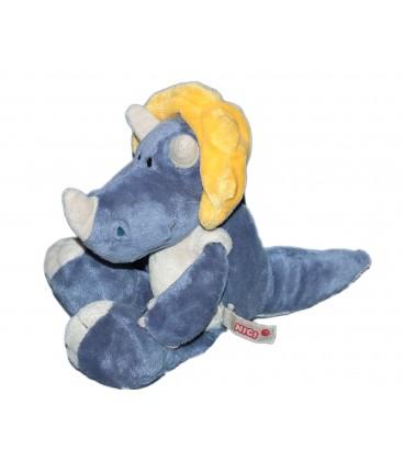 Doudou peluche Rhinoceros Bleu - NICI - 20 cm
