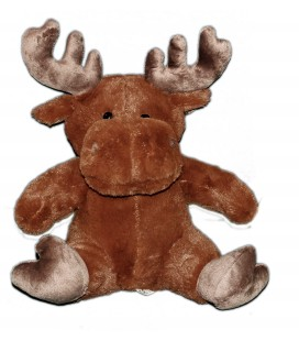 Doudou Peluche ELAN Renne Cef Caribou brun marron - BEST PRICE LONDON - 38 cm