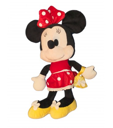 xxl grande peluche minnie robe rouge sac main disney nicotoy 65 cm. Black Bedroom Furniture Sets. Home Design Ideas