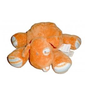 Doudou peluche CHIEN orange TAPE A L'OEIL - 20 cm - Cocard rayures