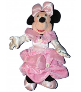 Doudou peluche MINNIE - Robe de mariée Rose - 28 cm - Disneyland Paris Disney