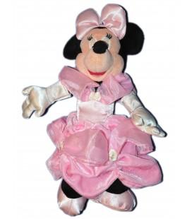 Doudou peluche MINNIE - Robe de mariée Rose - 28 cm - Disneyland Paris Disney