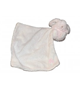 Doudou LAPIN rose TARTINE ET CHOCOLAT Mouchoir