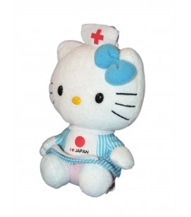 Peluche HELLO KITTY - Infirimière - I love Japan - H 18 cm - TY Sanrio