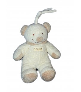 Doudou peluche musicale - Ours beige clair Crème - Nicotoy - The Baby Collection - 25 cm
