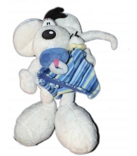 Peluche DIDDL - Avec son doudou plat bleu - Depesche - 32 cm