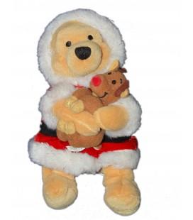 RARE ET COLLECTOR - Doudou peluche WINNIE Santa Pooh - Père Noël - Disney Store - H 22 cm