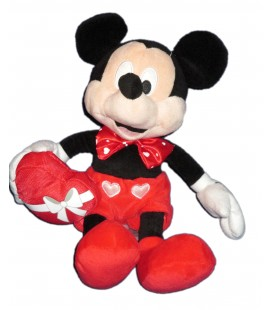 Peluche doudou MICKEY Coeur - Disney Nicotoy Simba - 26 cm