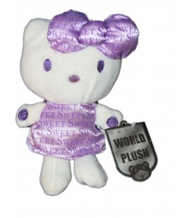 Peluche HELLO KITTY - Mauve Sweet - 20 cm - World of Plush