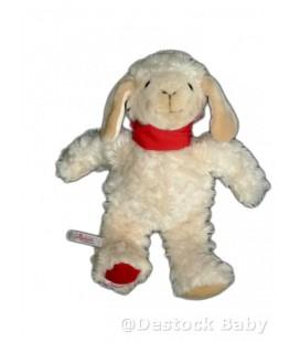 SIGIKID - Doudou peluche MOUTON agneau - 32 cm - Foulard rouge
