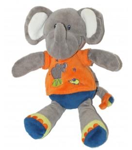 Doudou ELEPHANT bleu orange NICOTOY Simba H 24 cm