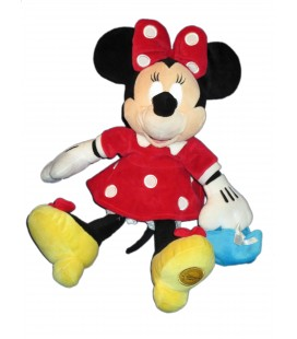 Doudou peluche MINNIE - Sac à main bleu - 38 cm - Original Disney Store