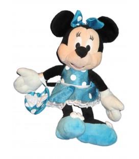 Doudou peluche MINNIE - Sac a Main - Robe bleue - Disney Nicotoy - H 30 cm