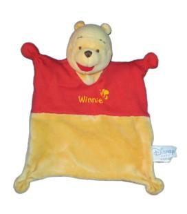 Doudou plat WINNIE rouge jaune - Abeille - Disney Baby Nicotoy