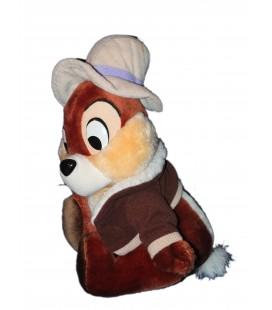 Doudou Peluche écureuil Tic et Tac 28 cm Chapeau gilet Disney