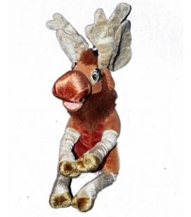 Peluche doudou Caribou Elan Renne - FRERE DES OURS Disney Nicotoy - L 26 cm