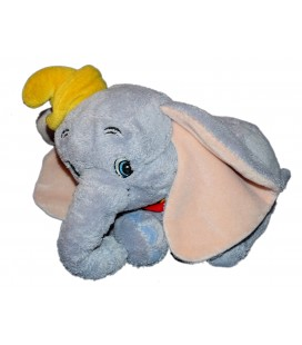 Peluche doudou Dumbo l'éléphant volant Disney 22 cm Colerette rouge