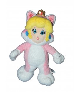 Peluche Fille - Chat SUPER MARIO 3D World - 26 cm