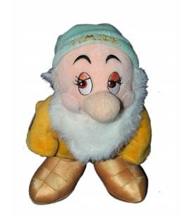 Peluche doudou Nain Timide Bashful Blanche Neige et les 7 nains Disney Disneyland Resort H 26 cm