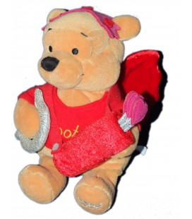 RARE ET COLLECTOR - Doudou peluche WINNIE Cupid Pooh - Ailes - Disney Store London - H 22 cm