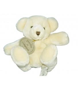 DOUDOU ET COMPAGNIE - Ours Assis Blanc crème beige clair - H 15 cm