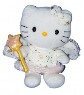 Peluche doudou HELLO KITTY - Gold Engel - Fée Baguette étoile - Licence Sanrio TY - H 18 cm