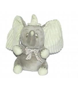 Peluche Musicale Doudou DUMBO L'ELEPHANT VOLANT Disney Nicotoy H 24 cm Noeud Papillon carreaux