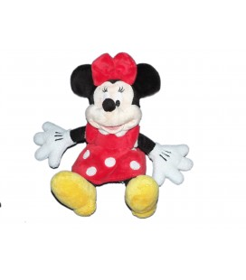 Doudou peluche MINNIE Robe rouge pois blancs - Disney Disneyland Paris - H 26 cm