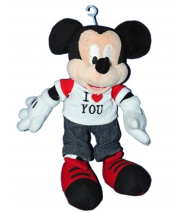 Peluche doudou MICKEY - I love you - Disneyland Resort - 26 cm