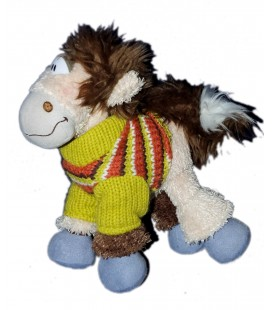 Peluche doudou CHEVAL Galupy DIDDL H 22 cm 6676
