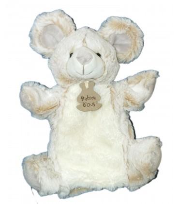 Doudou OURS beige grise Déguisée en Mouton Lapin blanc - Déguisours 20 cm HISTOIRE D'OURS