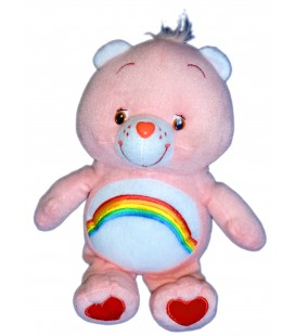 DOUDOU PELUCHE BISOUNOURS ROSE ARC EN CIEL CARE BEARS 26 cm WhiteHouse