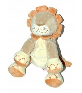 Doudou peluche LION Beige BENGY - H 23 cm assis