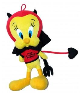 Doudou peluche TITI Diable Démon - Tweety Plush - Pour un copain d'enfer - Famoa - 32 cm