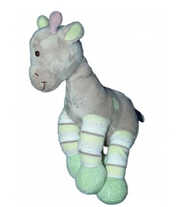 Doudou Girafe Mauve gris vert ARTHUR ET LOLA Bebisol