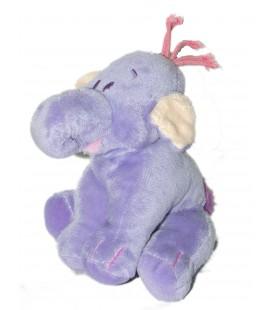 Doudou peluche LUMPY L'Efelant Elephant mauve Disney Nicotoy Simba Dickie H 15 cm