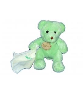 Doudou OURS Vert Mouchoir - BABY NAT Babynat - H 14/20 cm