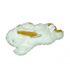 Doudou peluche Lapin blanc roux NICOTOY 25 cm
