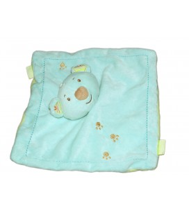 Doudou plat Ours Koala Panda Infiniment Zen SYSTEME U Bleu turquoise vert