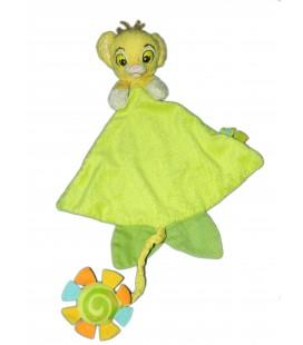 Doudou plat Vert Simba LE ROI LION Spirale Disney Simba Etat Moyen