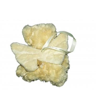 Doudou Peluche OURS beige - Ailes ange - BUKOWSKI 20 cm