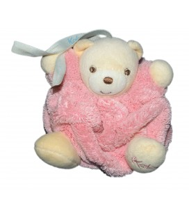 Mini doudou - Ours KALOO Coll. Plume Rose H 12 cm