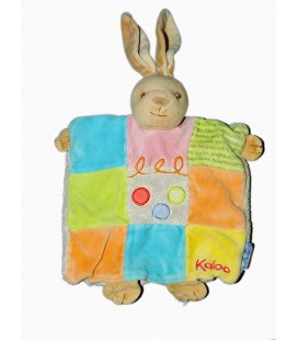 KALOO - Lapin patchwork Marionnette Ronds beige orange vert