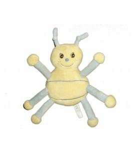 Peluche doudou Coccinelle bleue jaune clair - Arthur et Lola - Gingo Biloba - 24 cm