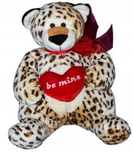 Doudou peluche Leopard Coeur Be Mine NICOTOY 28 cm