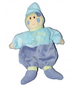 Doudou Marionnette Lutin Bleu Jaune - Un Rêve de Bébé - CMP